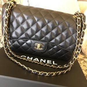 Chanel Large Black Double Flap Bag